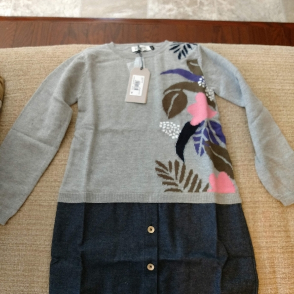 Jean Bourget Other - Jean Bourget Mixed Media Sweater Dress Size 6